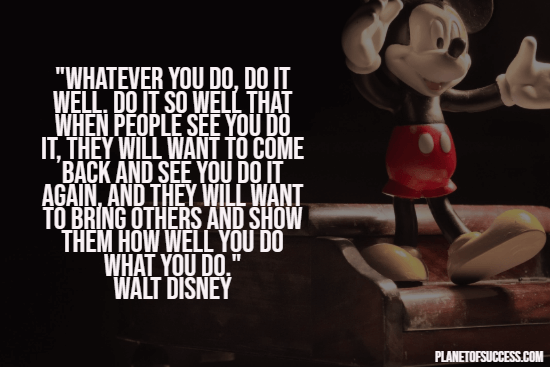 Greatness quote by Walt Disney